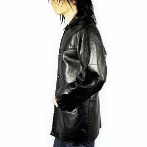GV Handmade in Italy Black Leather Jacket